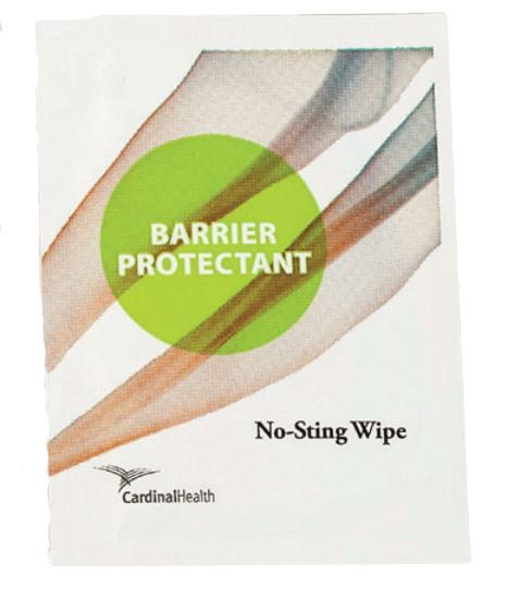 Cardinal Health™ No-Sting Barrier Wipe, box of 50