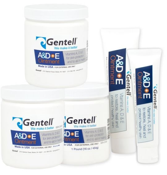 Gentell A&D+E Ointment, 13 oz jar, box of 12