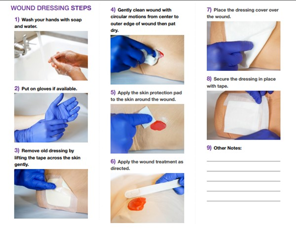 wound dressing change patient handout