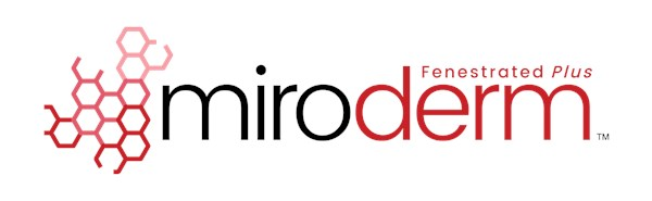 MIRODERM™ Fenestrated Plus Biologic Wound Matrix, Per Square Centimeter
