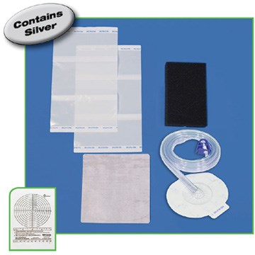 DeRoyal NPWT Dome Kits Black Medium Foam Kit w/SD/DAG