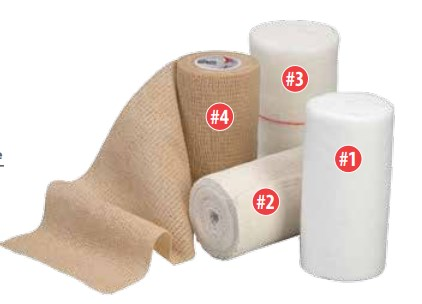 Cardinal Health, Four-Layer Compression Bandage System (*), 4 rolls per box, 1 of each layer, 8 boxes per case