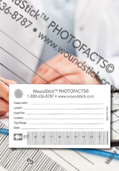 """WoundStick ™ PhotoFacts©, 10 cm (5""""x 3"""