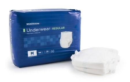 McKesson Regular Pull On Adult Absorbent Underwear, Medium Disposable Moderate Absorbency