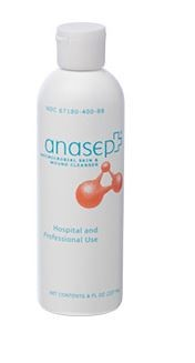 Anasept® Antimicrobial Skin & Wound Cleanser, (Dispensing Cap), 8 oz
