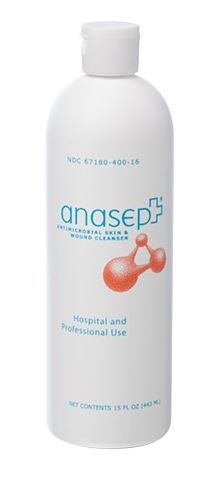 Anasept® Antimicrobial Skin & Wound Cleanser, (Dispensing Cap), 15 oz