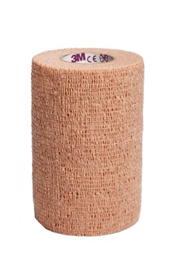 3M™ Coban™ LF Latex Free Self-Adherent Wrap with Hand Tear, 1½ in. x 5 yd./37,5 mm x 4.5 m, Tan, 48 rolls/case