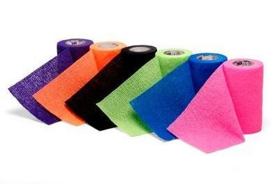 3M™ Coban™ LF Latex Free Self-Adherent Wrap with Hand Tear, 3 in. x 5 yd./75 mm x 4.5 m, Brights Pack, 24 rolls/case