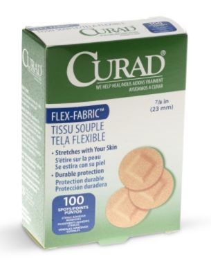 CURAD Fabric Adhesive Bandages: FABRIC, SPOT, 7/8